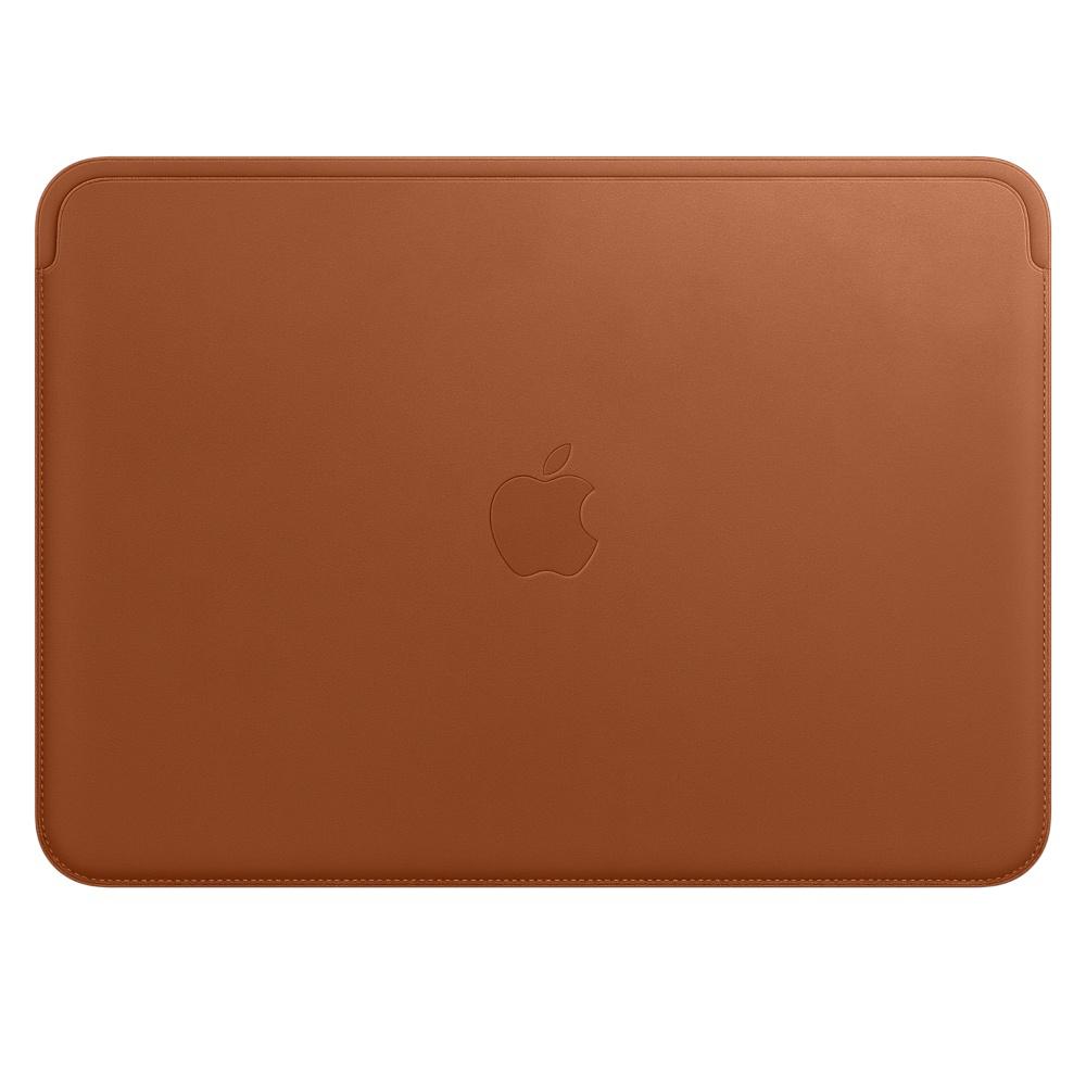 12 インチ MacBook 用レザースリーブ - サドルブラウン