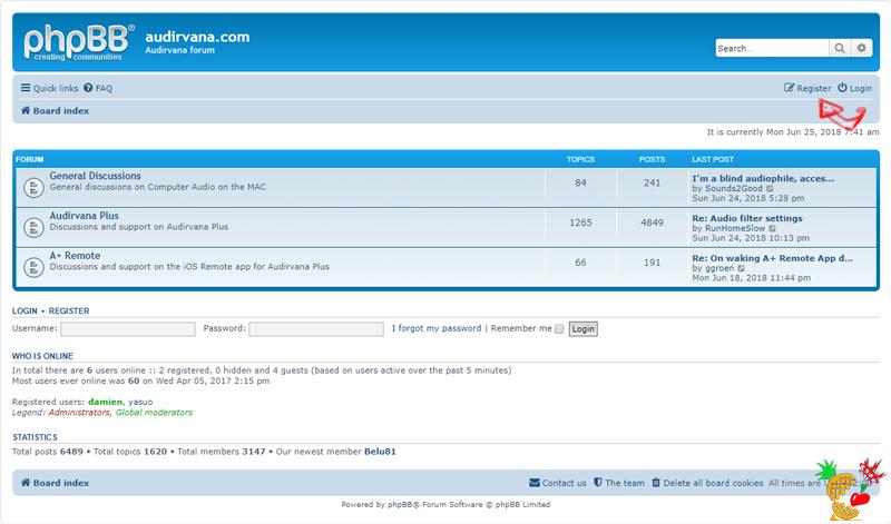 Audirvana Forum:Register