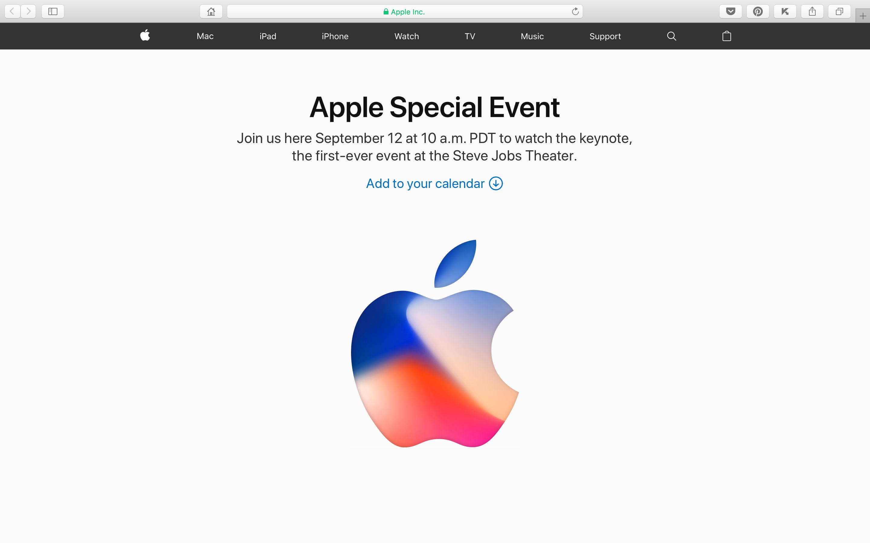 Apple Special Event September 2017