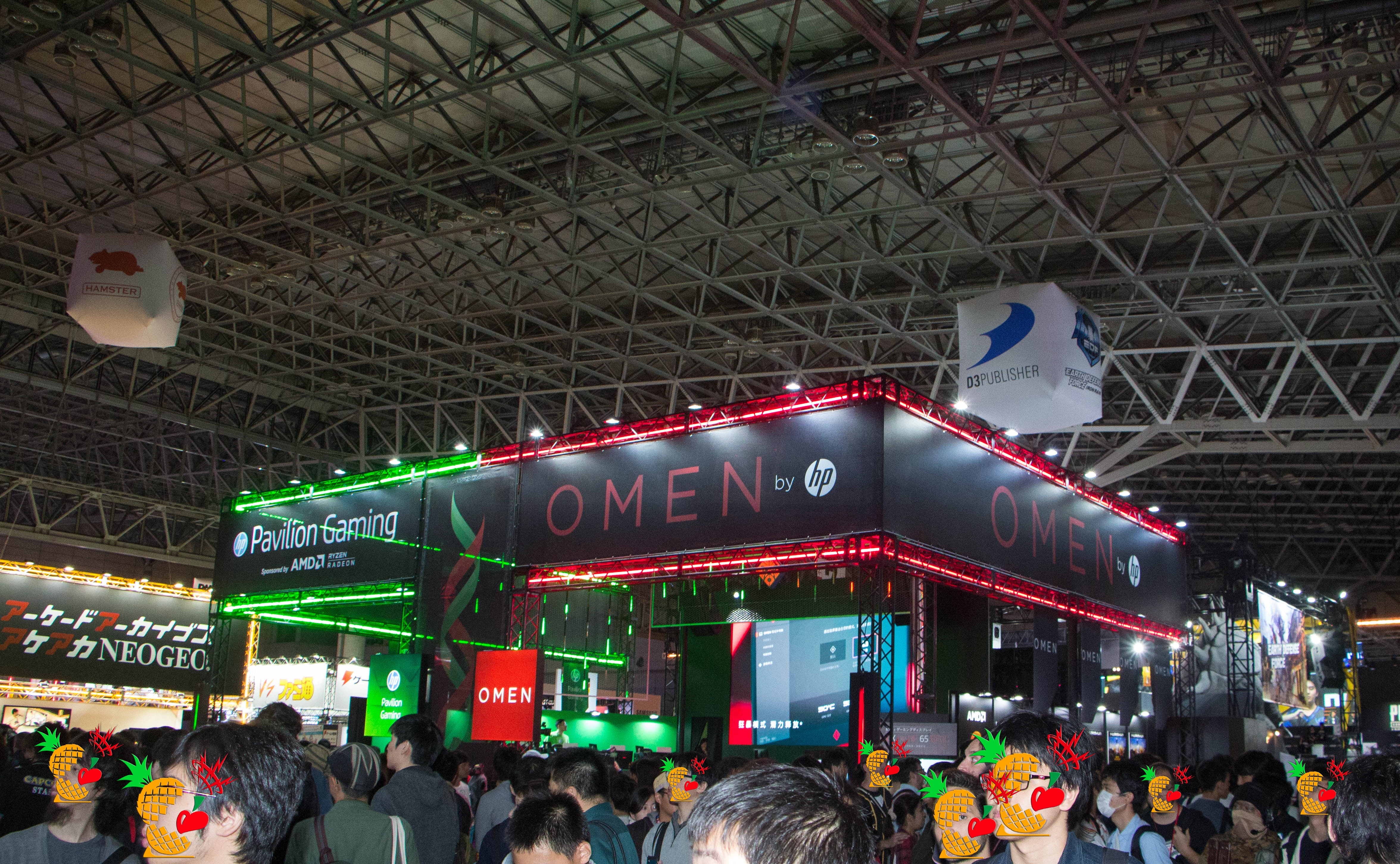 OMEN by HP/Pavilion Gaming ブース @ 日本 HP