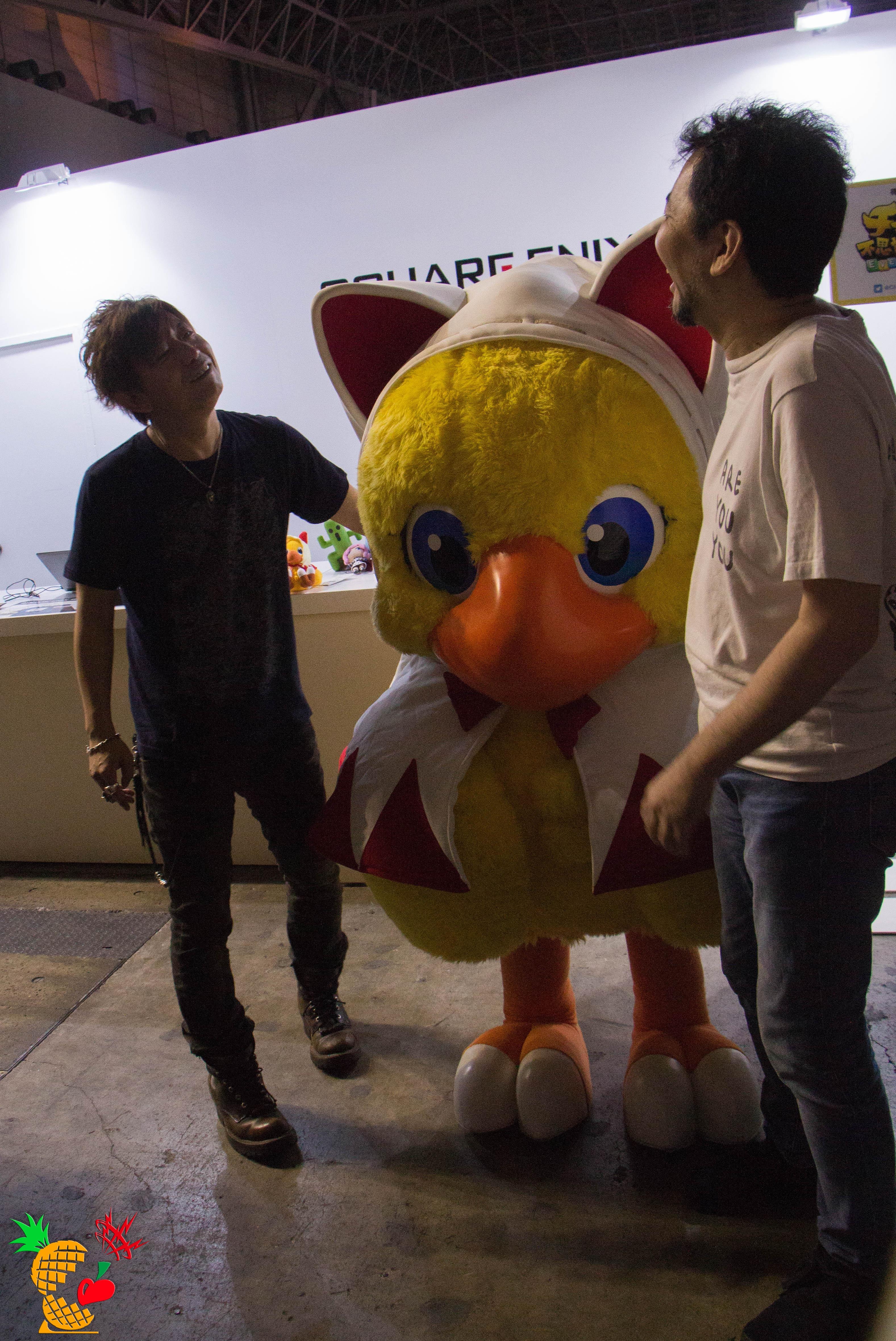 チョコボ with 吉田直樹氏(FINAL FANTASY XIV プロデューサー兼ディレクター)with 高井浩氏(THE LAST REMNANT ディレクター)