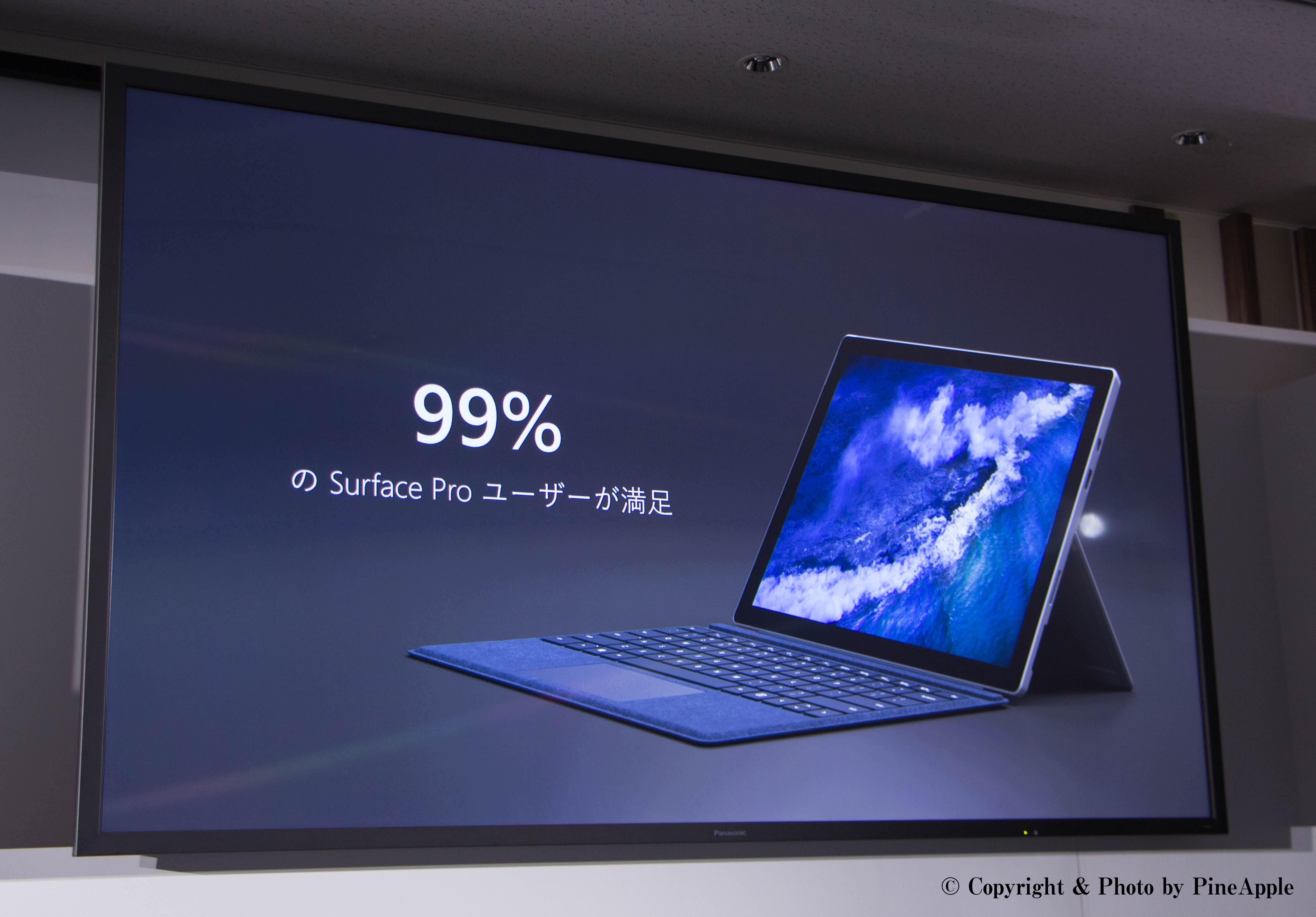 99%:日本の Surface Pro ユーザー満足度