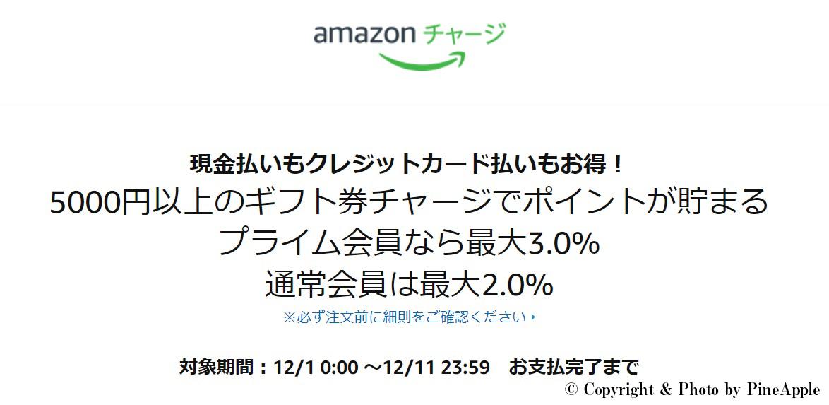 Amazon.co.jp:ギフト券チャージで最大 3%ポイント:ギフト券
