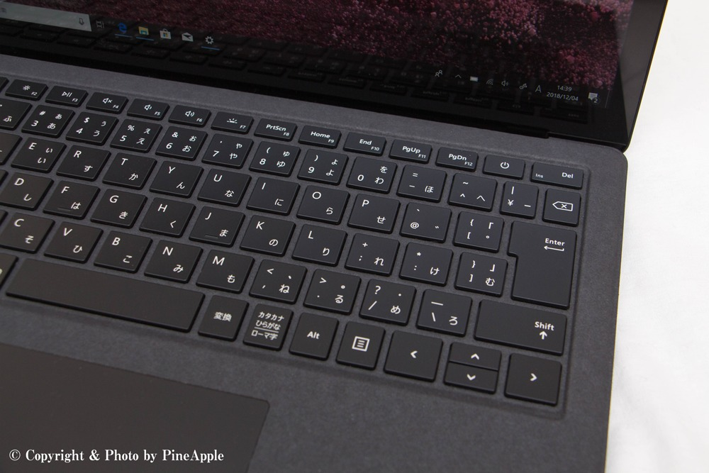 Surface Laptop 2:キーボード