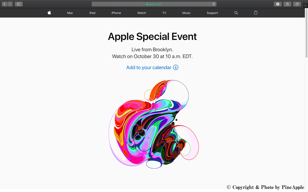 Apple Special Event, October 2018