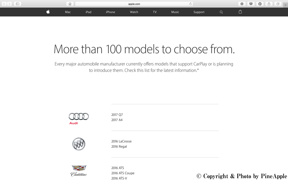 CarPlay - Available Models -
