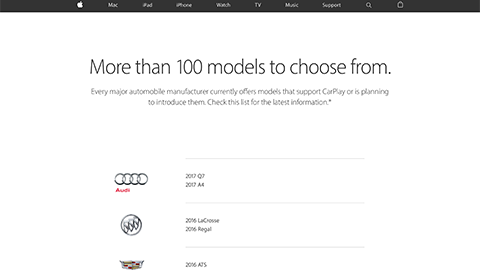 CarPlay - Available Models -