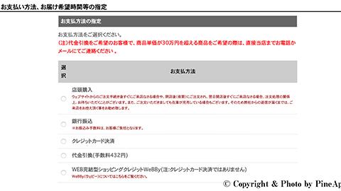 クレジットカード決済対応:FUJIYA AVIC(フジヤエービック)