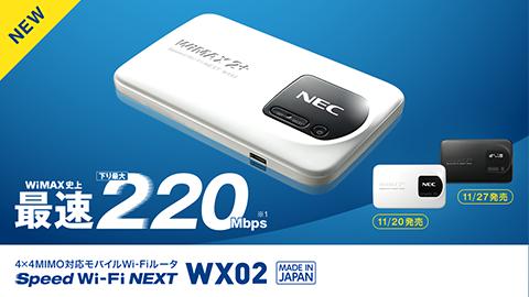 Speed Wi-Fi NEXT WX02