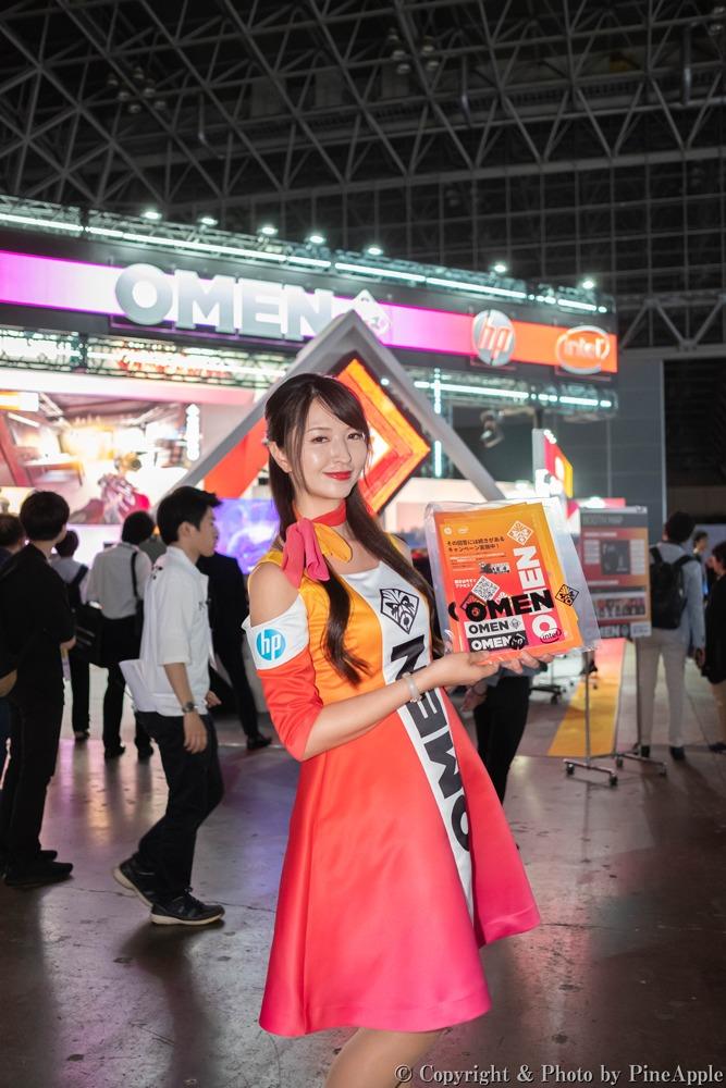 TOKYO GAME SHOW 2019:日本 HP ブース 夏紀さん(Twitter:@__777tsuki777__ )