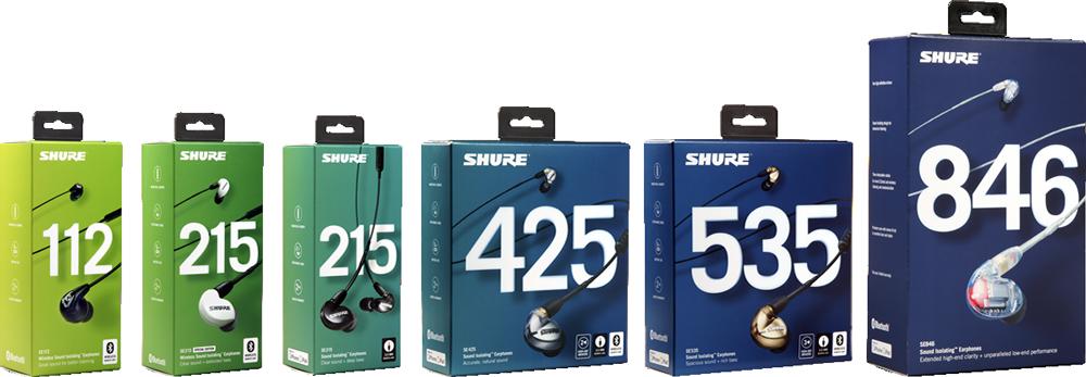 SHURE SE シリーズイヤフォン:パッケージ 2018