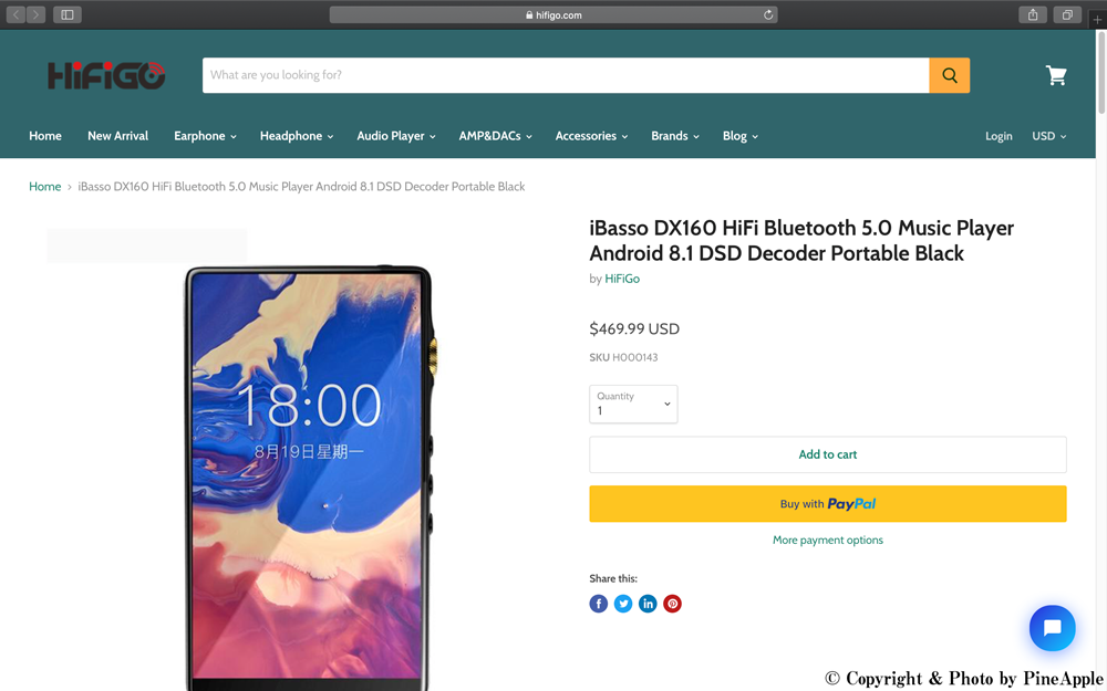 Earphones, Audio Players, Headphones AMP, DACs & TWS for Audiophiles -  HiFiGo