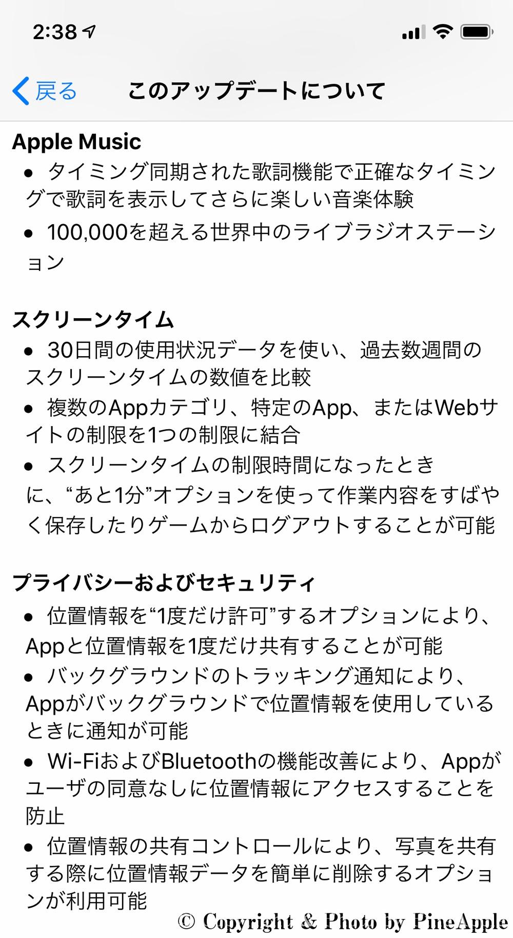 iOS 13:Apple Music、スクリーンタイム、プライバシーおよびセキュリティー
