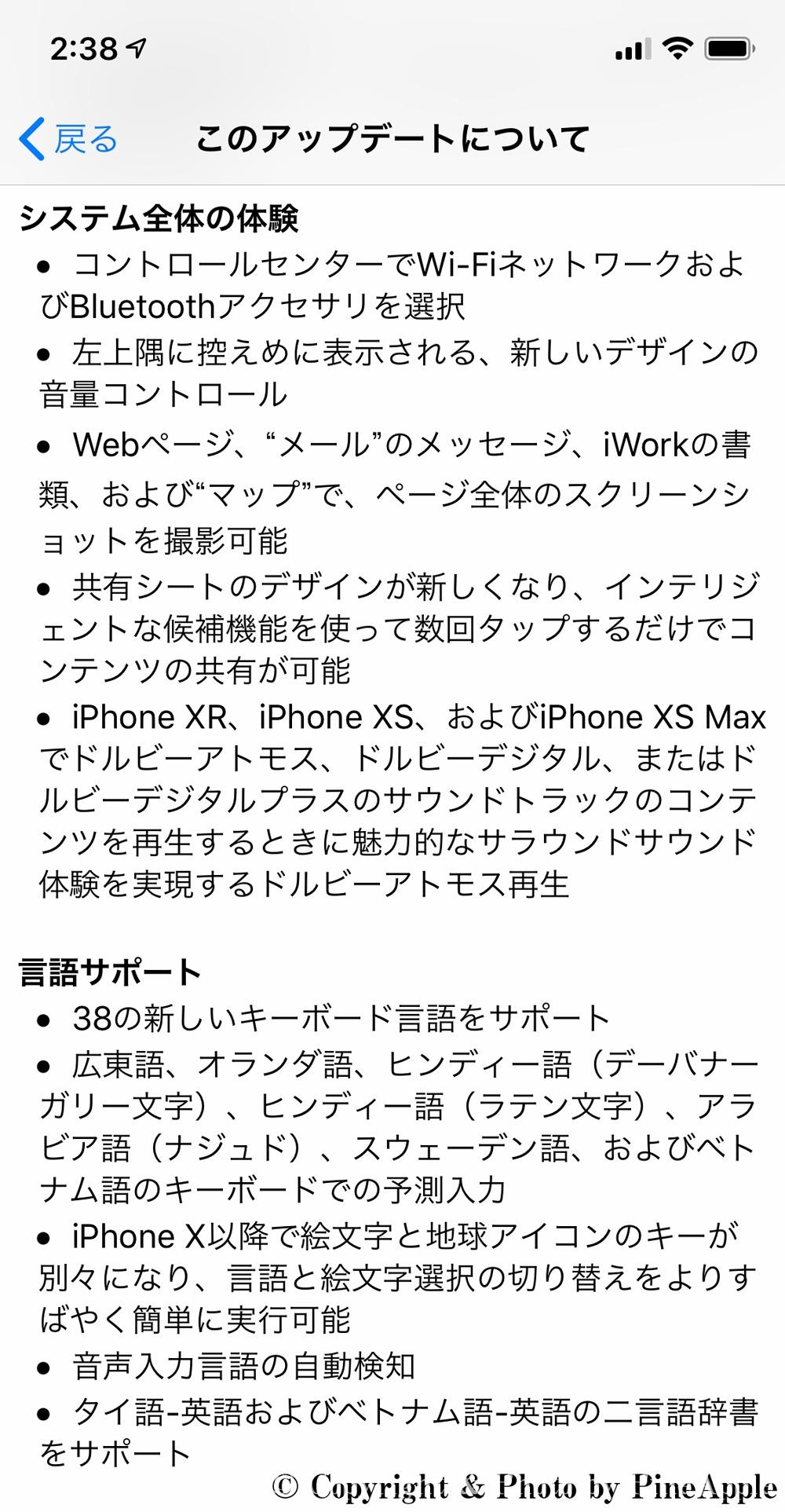 iOS 13:システム全体の体験、言語サポート