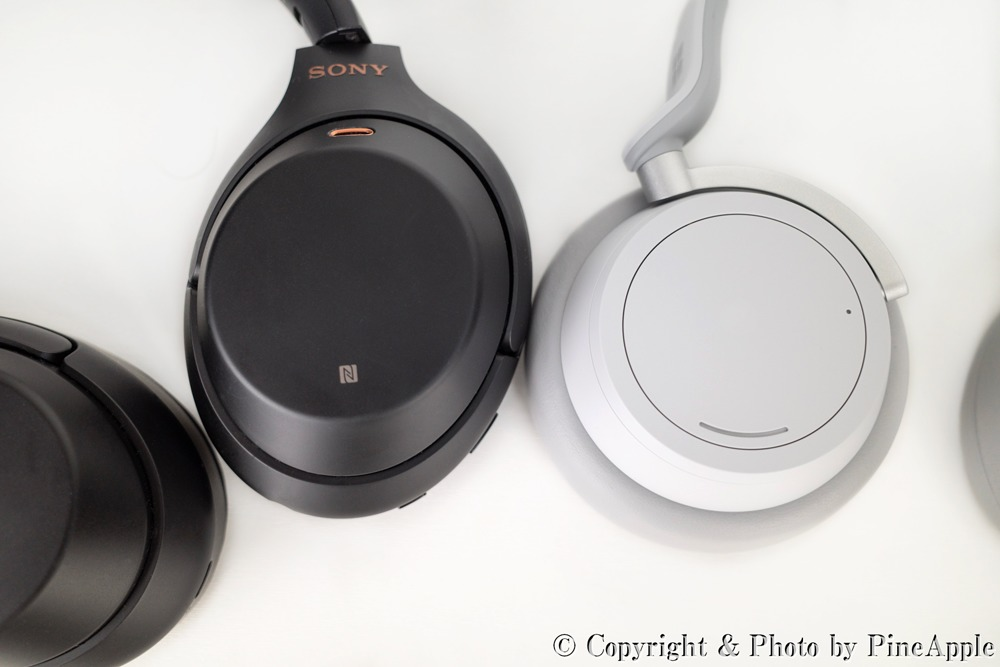 SONY WH - 1000XM3(左)& Surface Headphones(右)