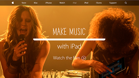 iPad - Make music with iPad.- Apple(日本)