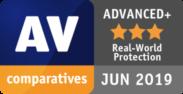 AV comparatives ADVANCED+ JUN 2019