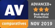 AV comparatives ADVANCED+ NOV 2019