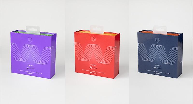 EVA2020 × final 完全ワイヤレスイヤフォン:シンブルデザインながらシンクロ率の波形がかっこよさを引き立たせるパッケージ