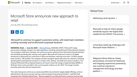 Microsoft Store announces new approach to retail - Stories
