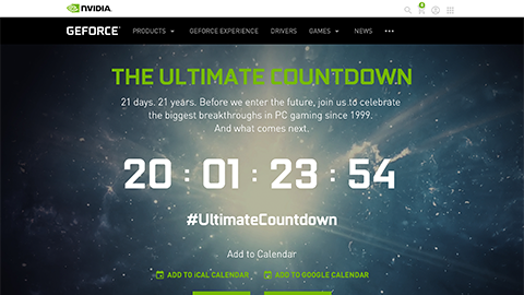 GeForce Ultimate Countdown and Special Event