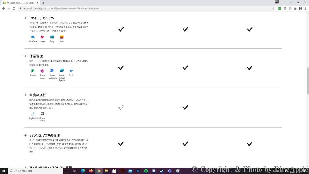 Microsoft 365 E3、E5、F3 を比較 大企業向け Microsoft 365