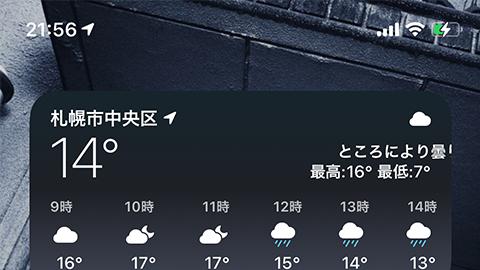 iOS 14:ディスプレイ上部のノッチ右側から下にスワイプし、「コントロールセンター」を表示