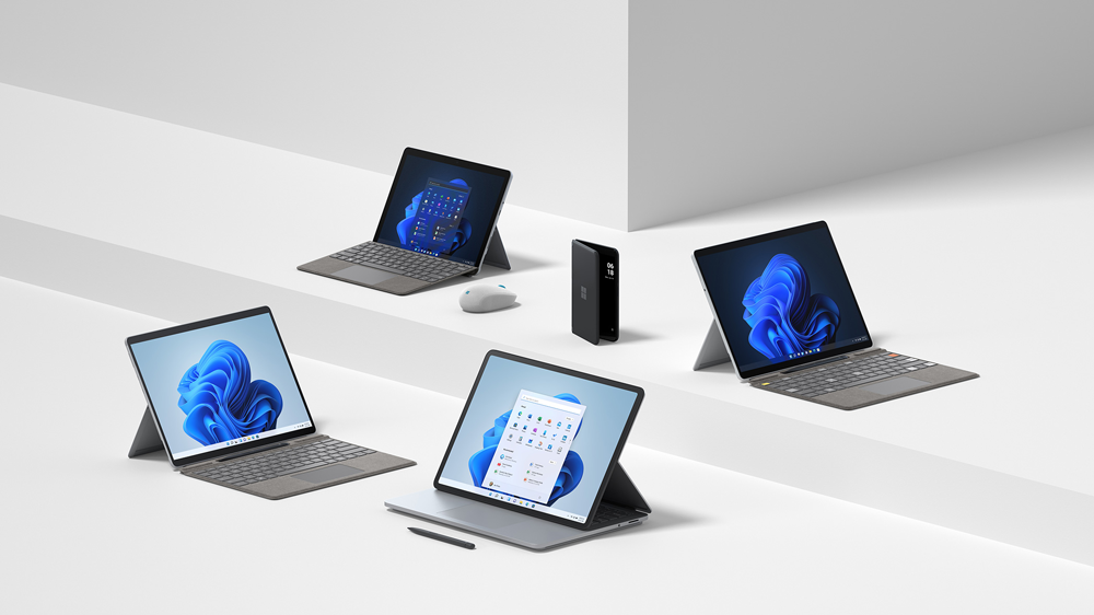 Surface Family:Surface Laptop Studio、Surface Pro 8、Surface Pro X、Surface Go 3、Surface Duo 2