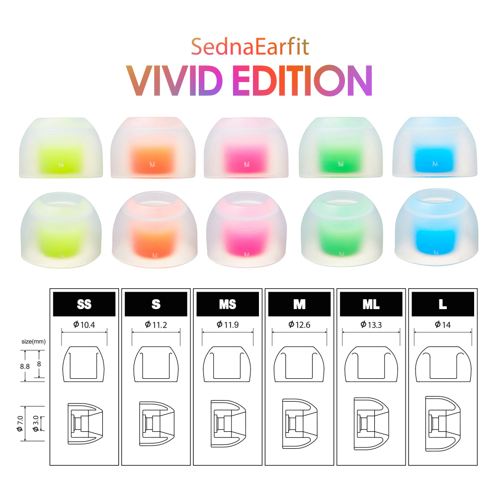 AZLA SednaEarfit VIVID EDITION